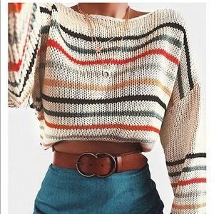 Vici Collection Griffith Striped Knit Sweater